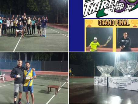 Elecon Tennis Academy (Gujarat, India) held their first Thirty30 Tennis Tournament in October 2020