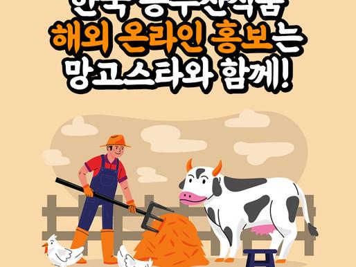 [망고스타코리아] 한국 농수산식품 해외 온라인 홍보는 망고스타와 함께!
