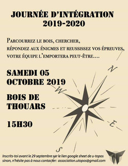 Journée d'intégration 2019 / 2020