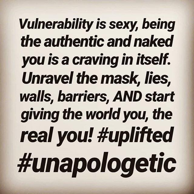 Vulnerability is sexy!