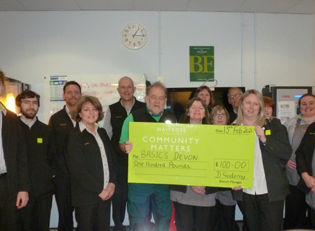 Waitrose & Partners in Holsworthy Support BASICS Devon