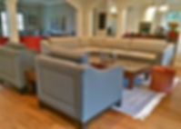 Custo furnishings with picture frame backs