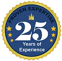 Unitd Natural Hemp Extracts 25 years of experience badge