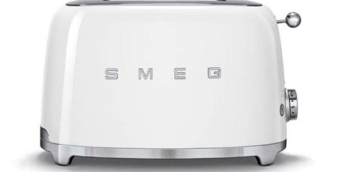grille pain blanc toaster smeg cote