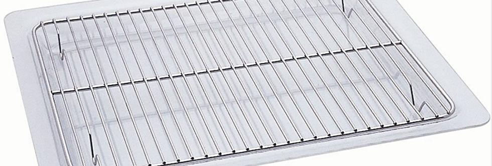 BVG - Lèchefrite en verre avec grille
