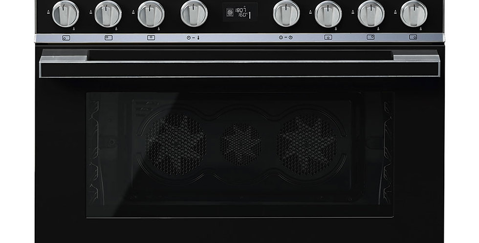 PORTOFINO CPF9GPBL 90cm Noir GAZ PYROLYSE