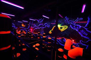 Laser Tag arena art work