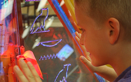 Xtreme Craze boy in arcade