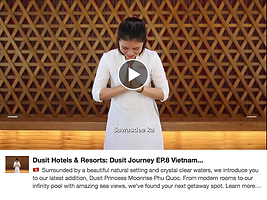 Dusit Hotels Facebook Video content