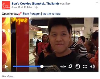 Facebook Live Ben's Cookies