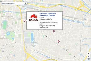 El Gaucho Facebook Map