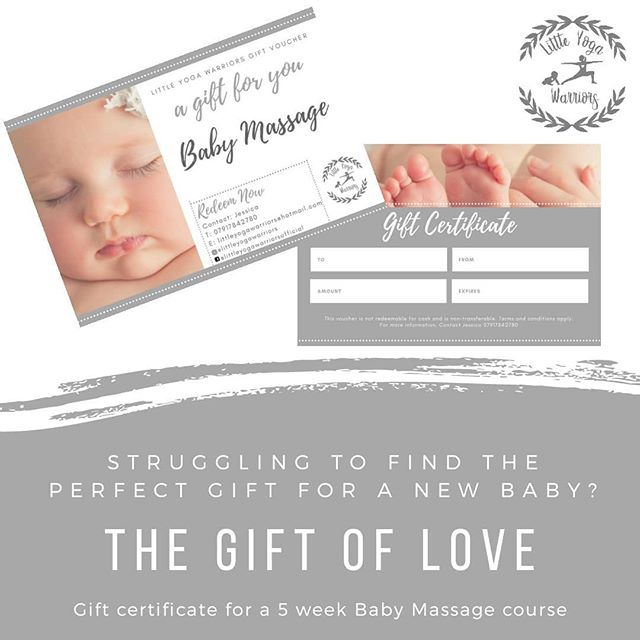 Gift vouchers now available for Baby Mas