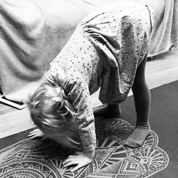 Yoga with Gwennie #cosmickidsyoga #babyy