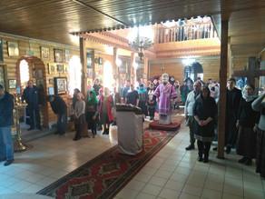 В Крестопоклонную Неделю в г. Харабали была совершена архиерейская Литургия.