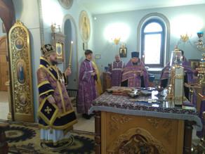 Епископ Ахтубинский и Енотаевский Антоний совершил Всенощное Бдение в канун Крестопоклонной Недели В