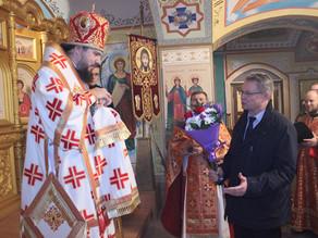 В воинском храме Спасе Нерукотворного г. Знаменск состоялось архиерейское богослужение