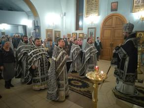 В Ахтубинске совершена первая в этом году Литургия Преждеосвященных Даров