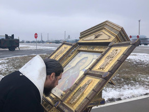 Главная икона ВДВ и ВКС России принесена в пределы Ахтубинской епархии
