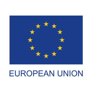 european union flag with text_full colou