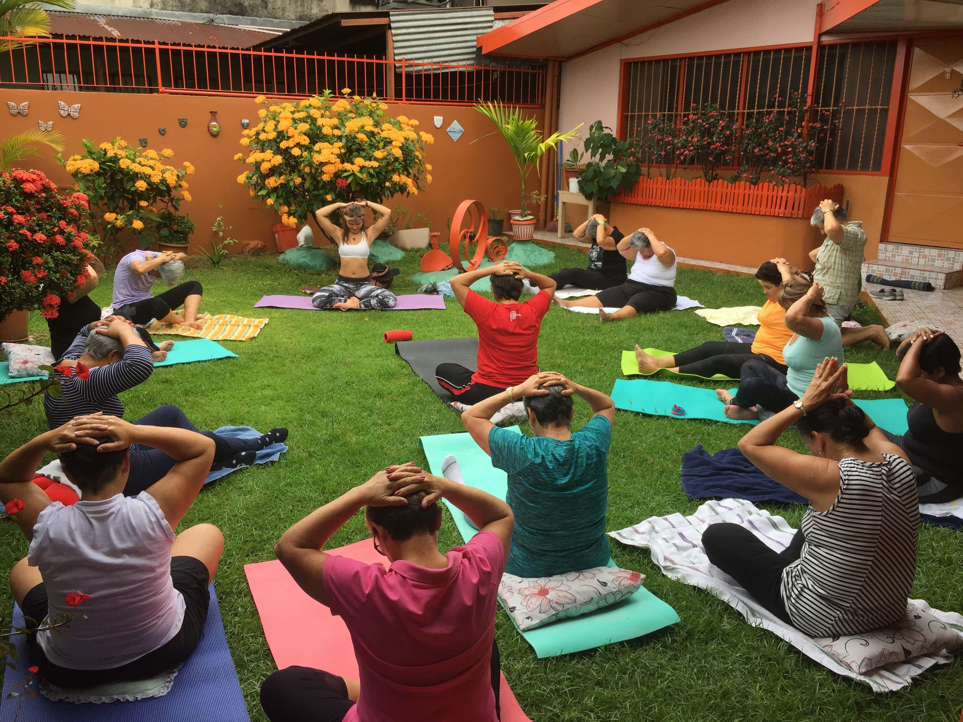 yoga, mujeres, grupo