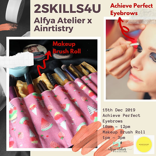 Achieve Perfect Brows & Makeup Brush Roll
