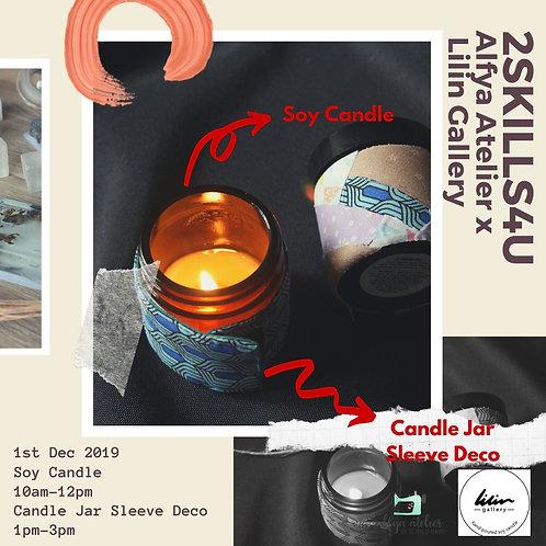 Soy Candle & Candle Jar Sleeve