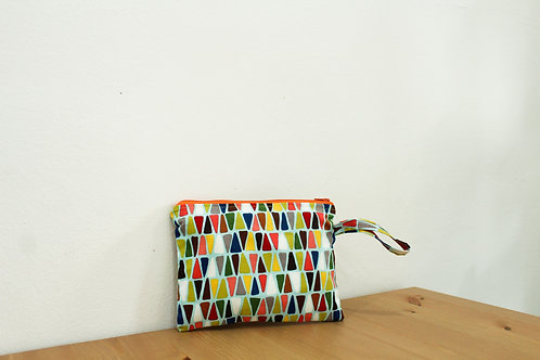 Abstract Triangle Zippered Pouch