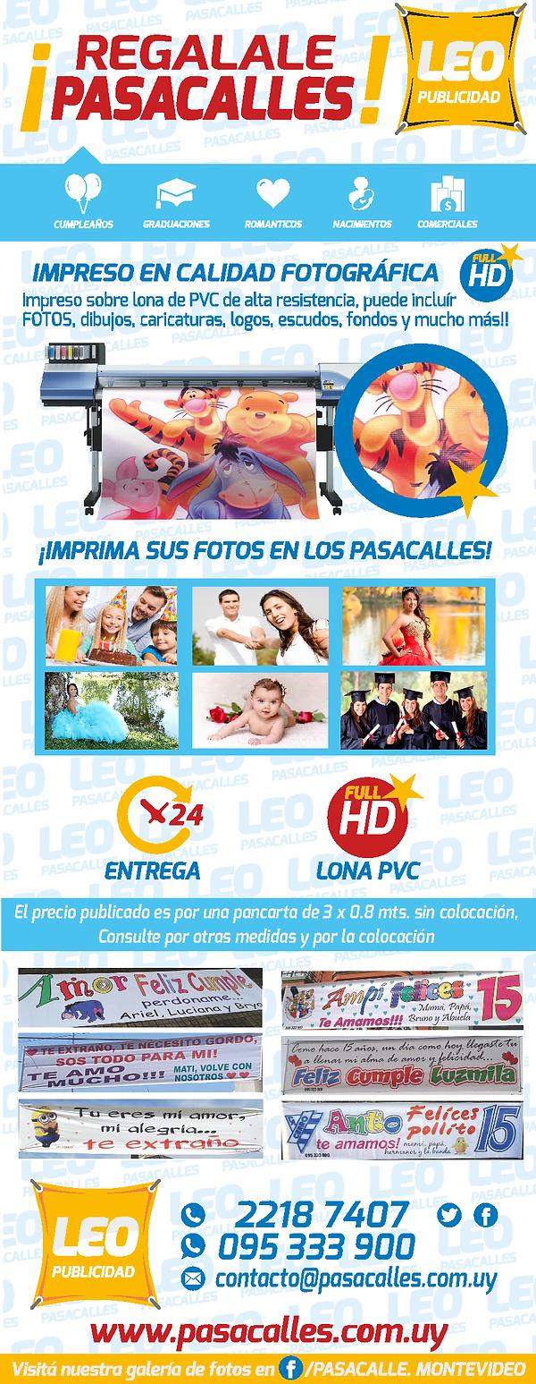 pasacalles impresos - LEO Publicidad