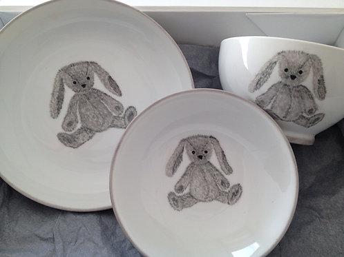 "Ensemble collection ""lapin gris"""