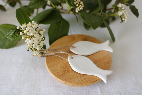 Poisson céramique blanc
