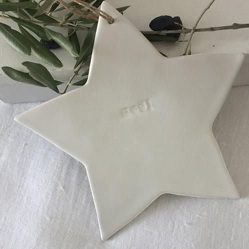 """étoile céramique blanche """"noël"""" XL"""