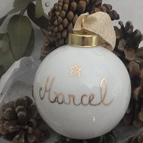 """Boule de noël """"personnalisable prénom+ étoile"""""""