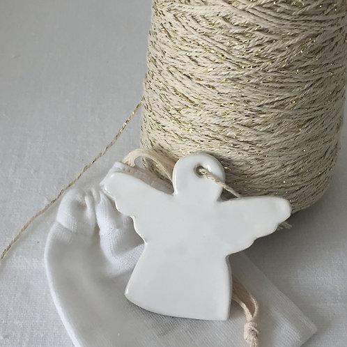 Ange céramique blanc