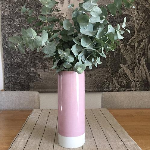 Vase rose poudré grand modèle