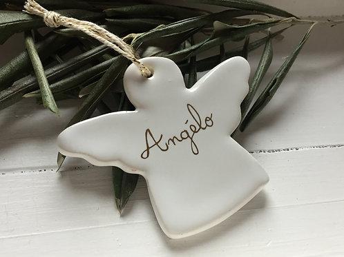 Ange céramiquepm blanc à personnaliser