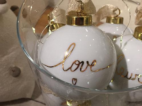 """Boule de noël """"love"""""""