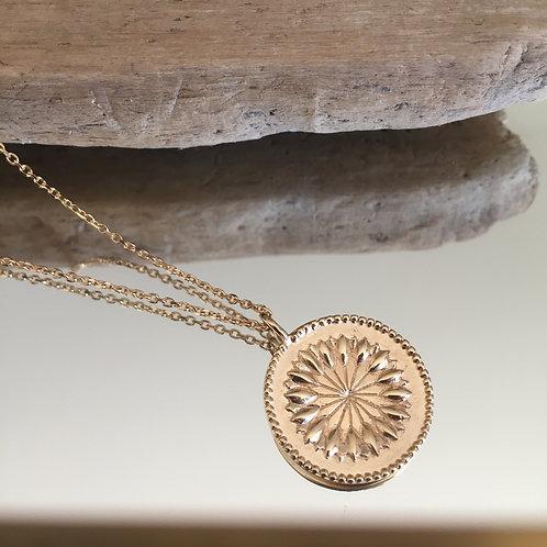 Collier pendentif fleur de pissenlit