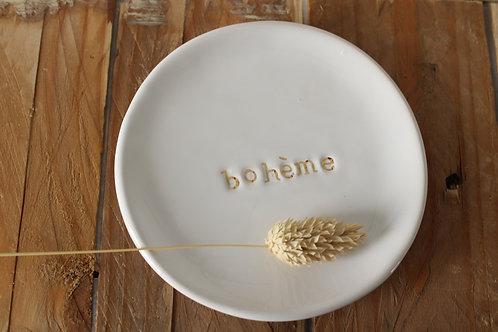 """Coupelle céramique message """"bohème""""or"""