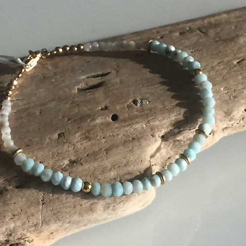 Bracelet Perles de Larimar