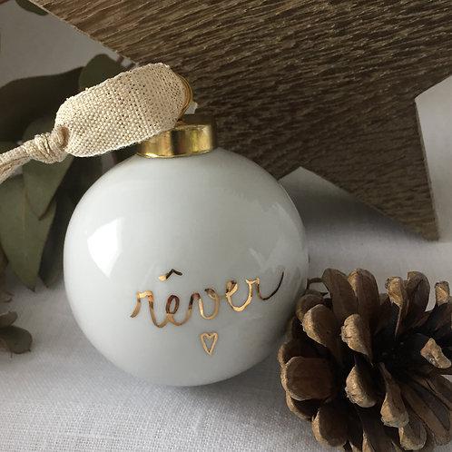 """Boule de noël """" rêver""""or"""