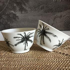 tasses thé palmier