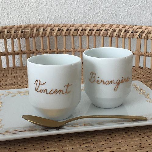 Duo de tasses à café à personnaliser