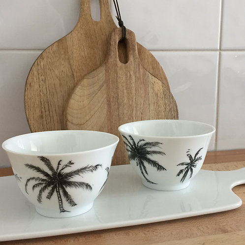 "Duo petits bols motifs "" palmiers"""