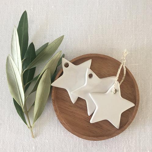 Mini Etoile céramique blanche