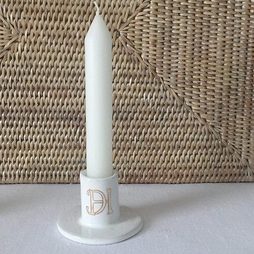 Bougeoir céramique blanc à personnaliser