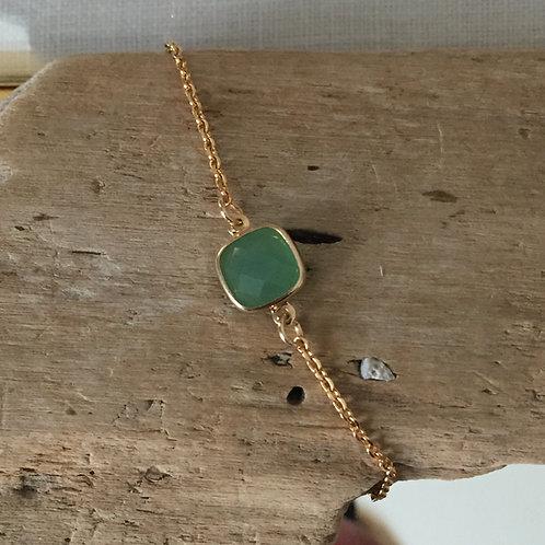 Bracelet perle vert d'eau