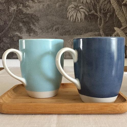 Duo mugs marine /vert d'eau