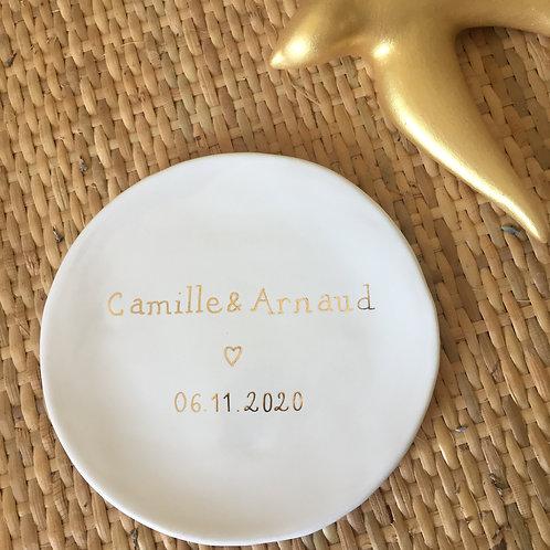 Coupelle céramique à personnaliser prénoms et date