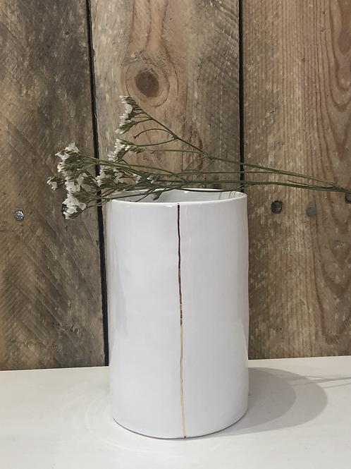 Vase en céramique blanc pm