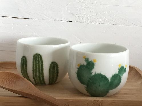 "Duo tasses à café "" cactus"""